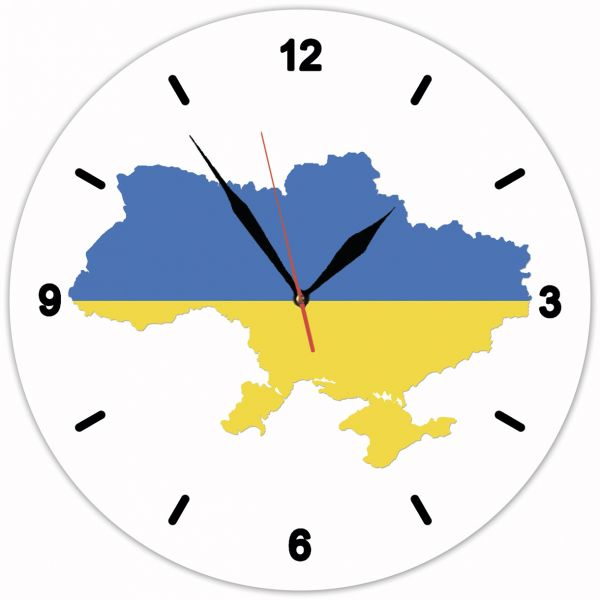Годинник настінний з картою України