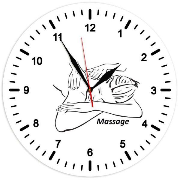 Настінний годинник в масажний кабінет